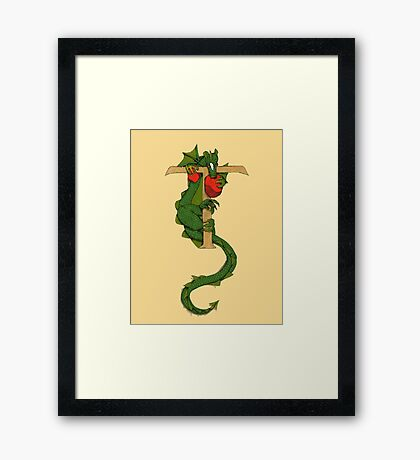 "Oscar and the Roses ""T - Tail"" (Illustrated Alphabet) Framed Print"