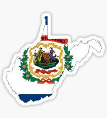 West Virginia State Flag Map Sticker