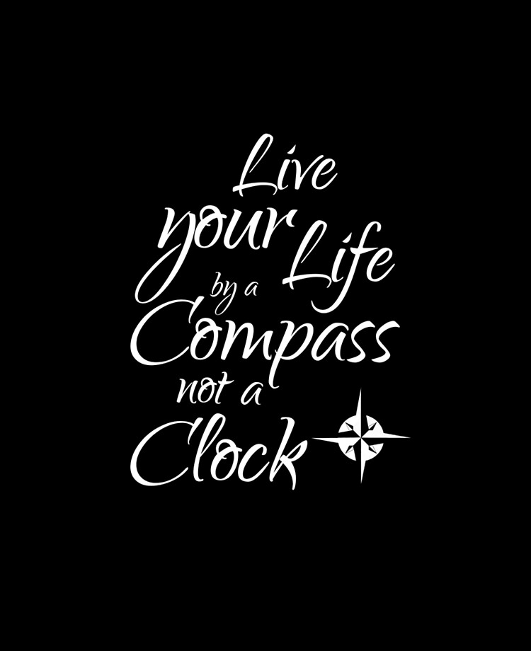Live your life by a compass not a clock    iPad Case & Skin