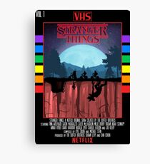 Stranger Things VHS Case Style Poster Canvas Print