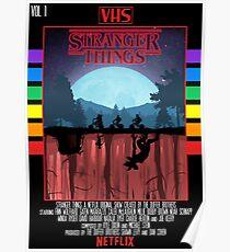 Stranger Things VHS Case Style Poster Poster