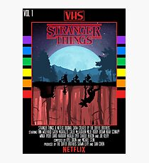 Stranger Things VHS Case Style Poster Photographic Print
