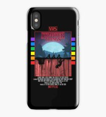 Stranger Things VHS Case Style Poster iPhone Case/Skin