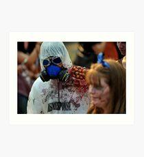 Zombie In Hazmat Suit Art Print