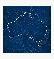 Australia map with stars in the universe illustration Photographic Print