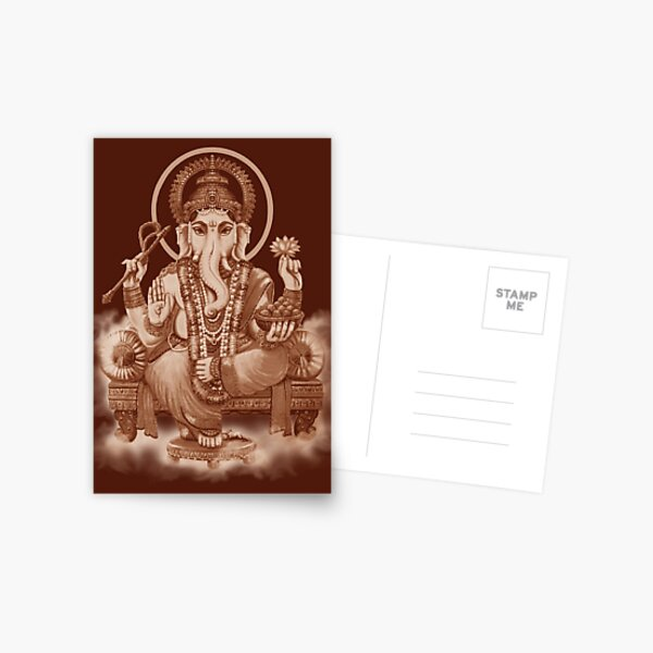 Ganesh the Remover of all obstacles Postcard