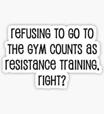 Resistance Training Sticker