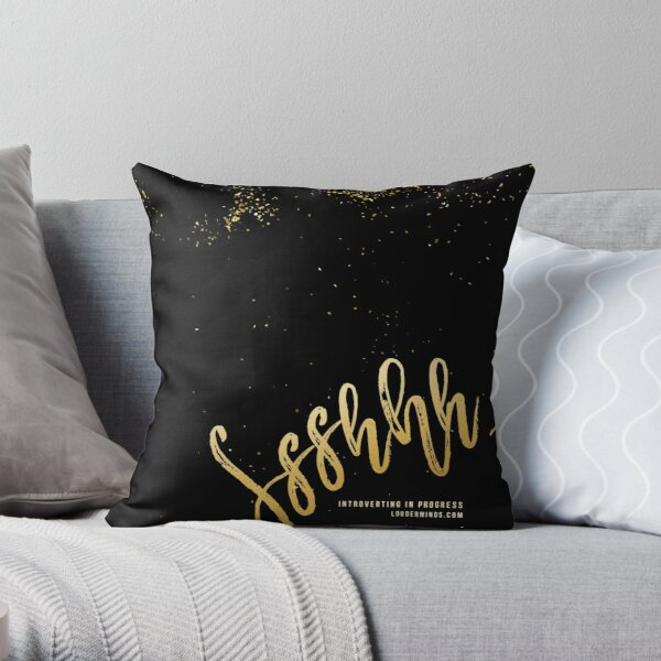 Shhhhh, Introverting in Progress Throw Pillow