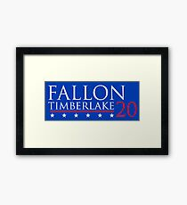 Fallon for President 20 Framed Print