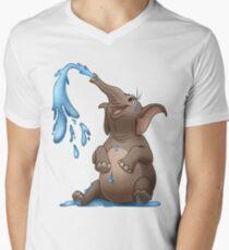 Happy Elephant Men's V-Neck T-Shirt