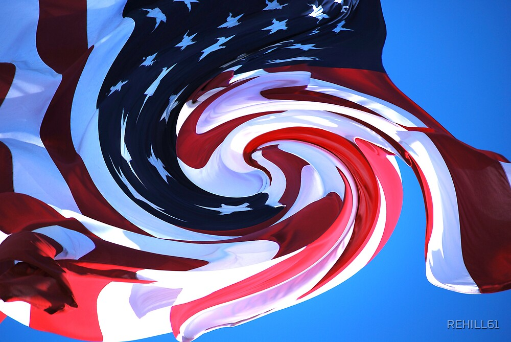 Flag VI (Into the Arms of America) by REHILL61