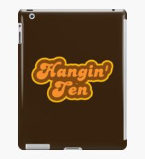 Hangin' Ten - Retro 70s - Logo iPad Case/Skin