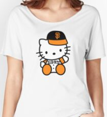 hello kitty san francisco giant Women's Relaxed Fit T-Shirt