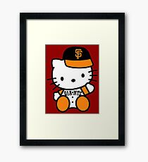 hello kitty san francisco giant Framed Print