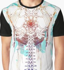 Cyborg Girl Spine (teal) Graphic T-Shirt