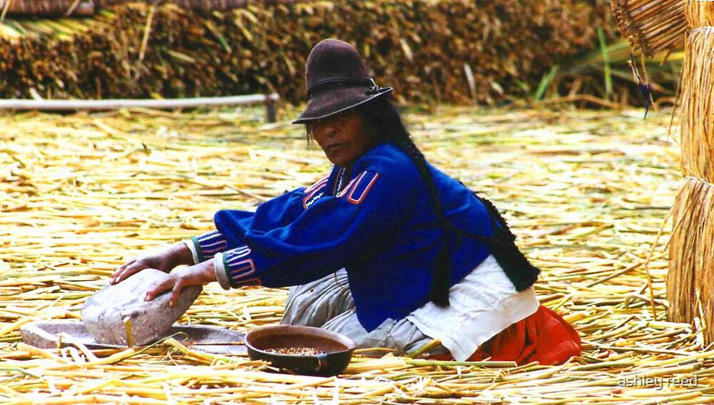 peruvian woman by ashley reed