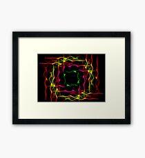 Coloured flow Framed Print