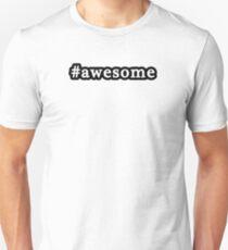 Awesome - Hashtag - Black & White T-Shirt