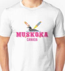 Muskoka Canada in Pink T-Shirt