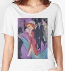 Ernst Ludwig Kirchner - Street With Red Streetwalker Women's Relaxed Fit T-Shirt