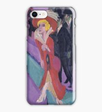 Ernst Ludwig Kirchner - Street With Red Streetwalker iPhone Case/Skin