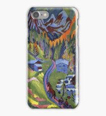 Ernst Ludwig Kirchner - Sertig Path In Summer iPhone Case/Skin