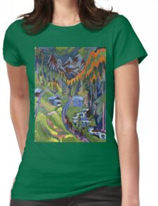 Ernst Ludwig Kirchner - Sertig Path In Summer Womens Fitted T-Shirt