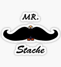 Mr. Stache Sticker