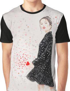Lovely Polka-Dot Graphic T-Shirt