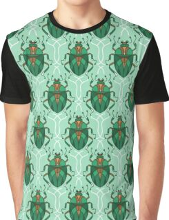 Green Beetle Graphic T-Shirt
