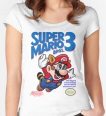 Mario 3 Women's Fitted Scoop T-Shirt