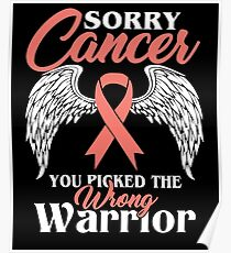 Sorry Breast Cancer T Shirt Poster