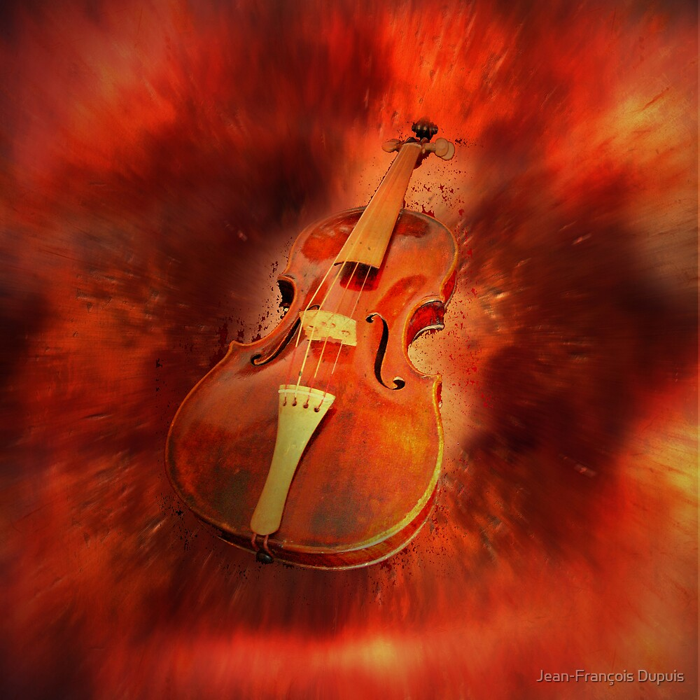 Red violin by Jean-François Dupuis
