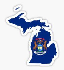 Michigan State Flag Map Sticker