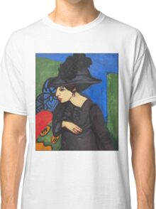 Ernst Ludwig Kirchner - Dodo With A Feather Hat (Dodo Mit Federhut) 1911 Classic T-Shirt
