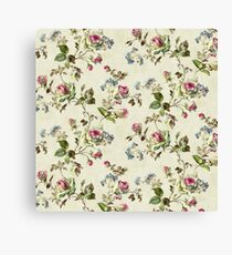 Floral Pattern Painting Design Canvas Print
