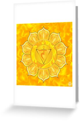 Solar Plexus Chakra  with yellow flare BG by GypsyOwlProduct