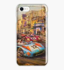 Vintage Racing Painting Nostalgic Cars iPhone Case/Skin