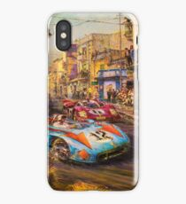 Vintage Racing Painting Nostalgic Cars iPhone Case