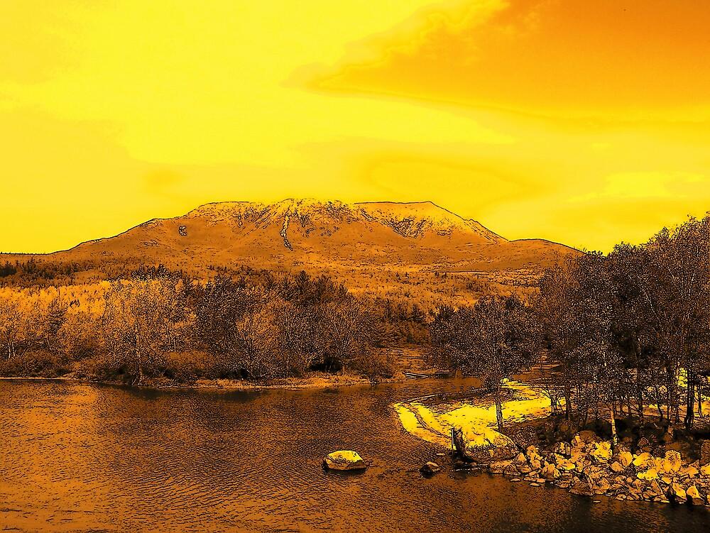Mountain Sunset by Gene Cyr