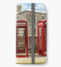 Vintage English Red Telephone Box Phone Booth England iPhone Wallet/Case/Skin