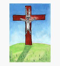 Hot Cross Bunny Photographic Print