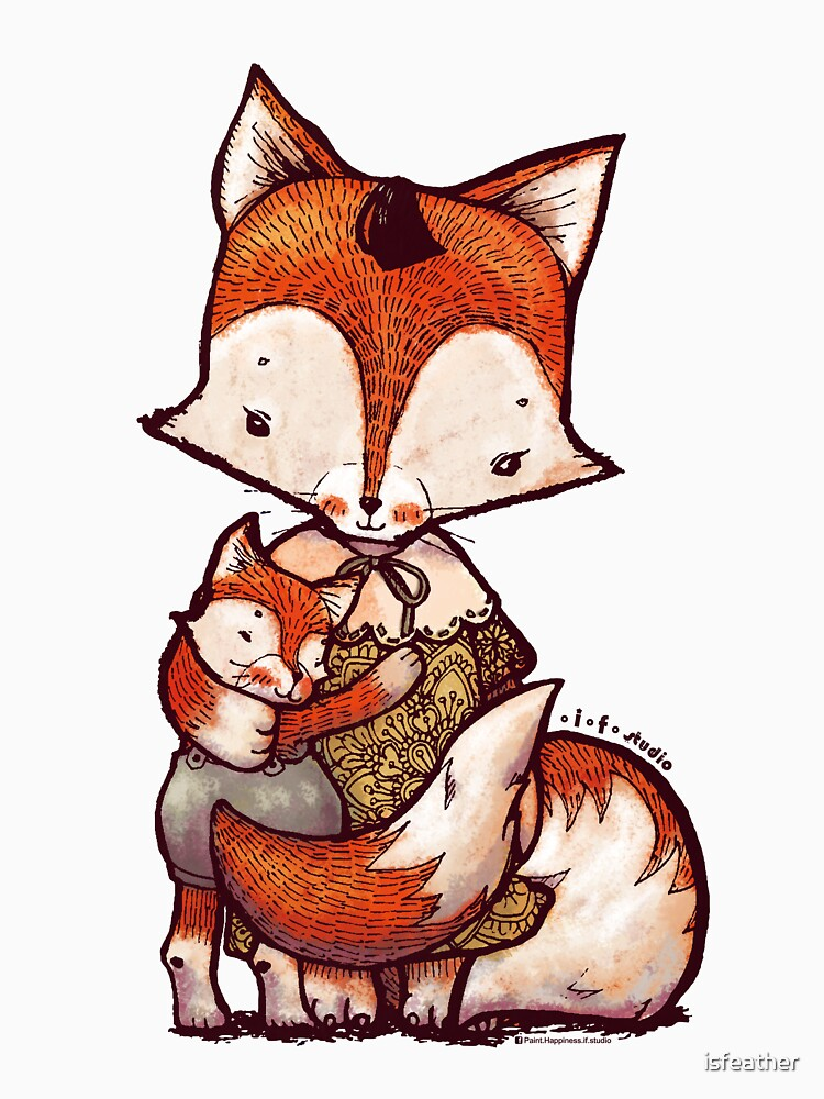 Fox Mother and Baby by isfeather