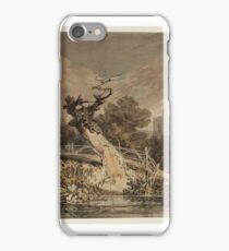 Joseph Mallord William Turner A Blasted Tree and a Fence beside Water, with a Church Tower beyond Trees iPhone Case/Skin