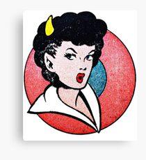 Devil Girl Canvas Print