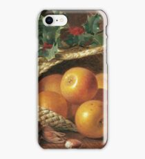 Eloise Harriet Stannard - Still Life With Apples, Hazelnuts And Holly iPhone Case/Skin