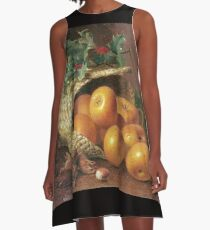 Eloise Harriet Stannard - Still Life With Apples, Hazelnuts And Holly A-Line Dress