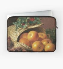 Eloise Harriet Stannard - Still Life With Apples, Hazelnuts And Holly Laptop Sleeve