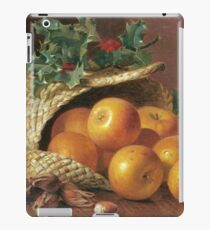 Eloise Harriet Stannard - Still Life With Apples, Hazelnuts And Holly iPad Case/Skin