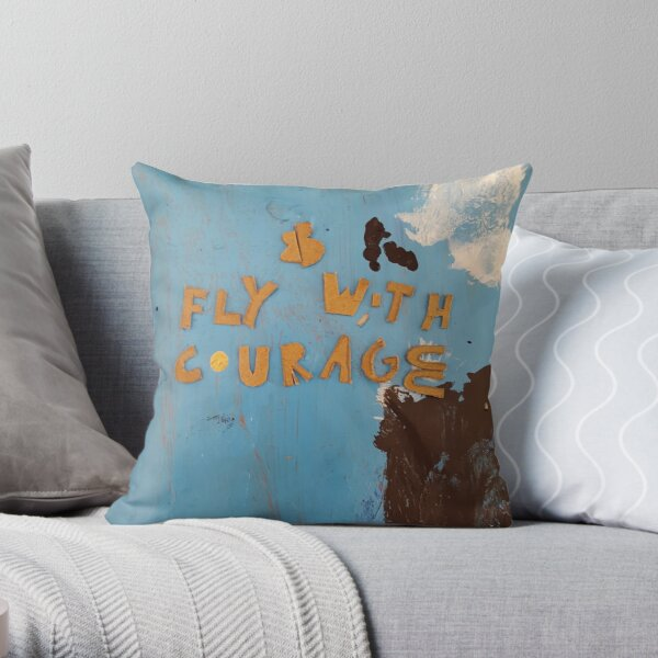 Project 321 - Fly with Courage Throw Pillow